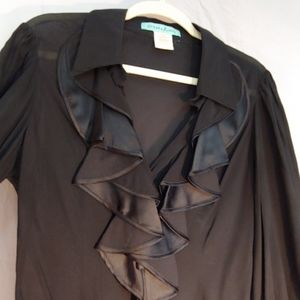 Black Ruffled Blouse, Guess by Marciano